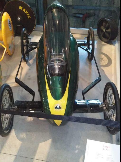 Gravity driven Lotus race car