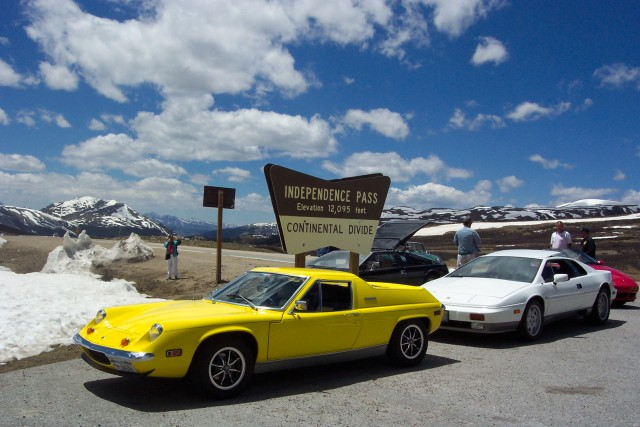 Europa 4237R on top of Independence Pass, Colorado