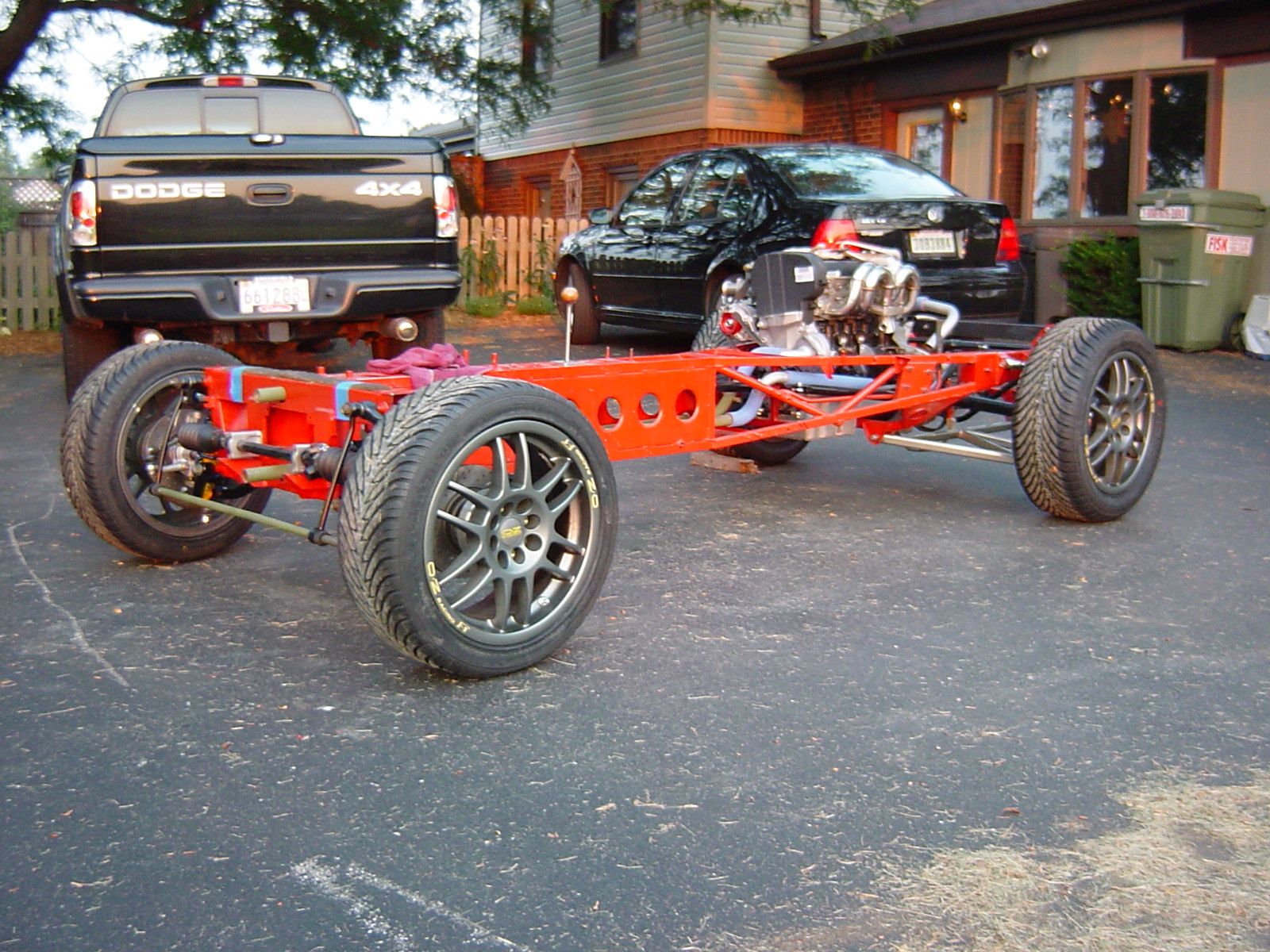 """16"""" OZ F-1 Cup wheels, Might work... a bit large in front but perfect for rear with flairs."""