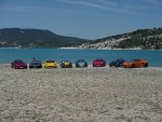 8 PACA cars by the Lake