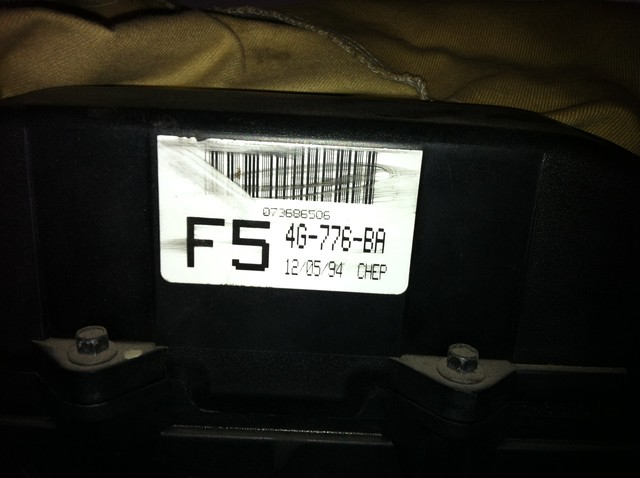 Ford Factory build tag on the front of the motor