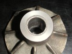 The impeller after the test lathe