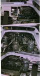 Several views of engine compartment